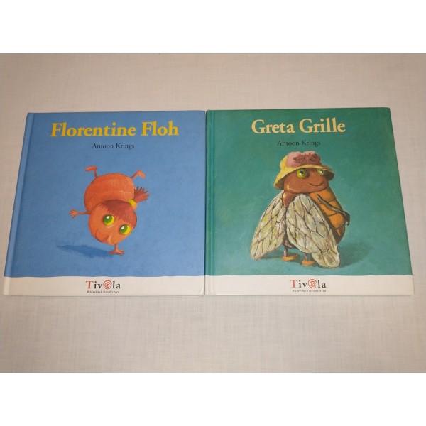2 Kinder-Bücher * Greta Grille + Florentine Floh