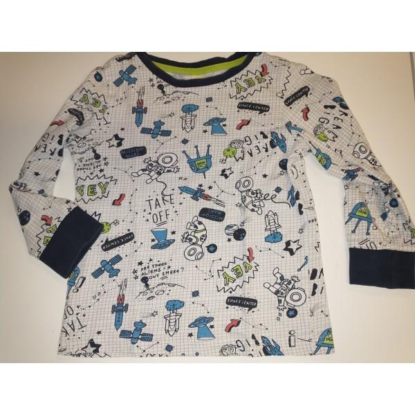 Langarm-Shirt * Weltall Rakete * Palomino C&A * Gr 110