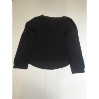 Langarm-Bluse Tunika * Gr L * schwarz