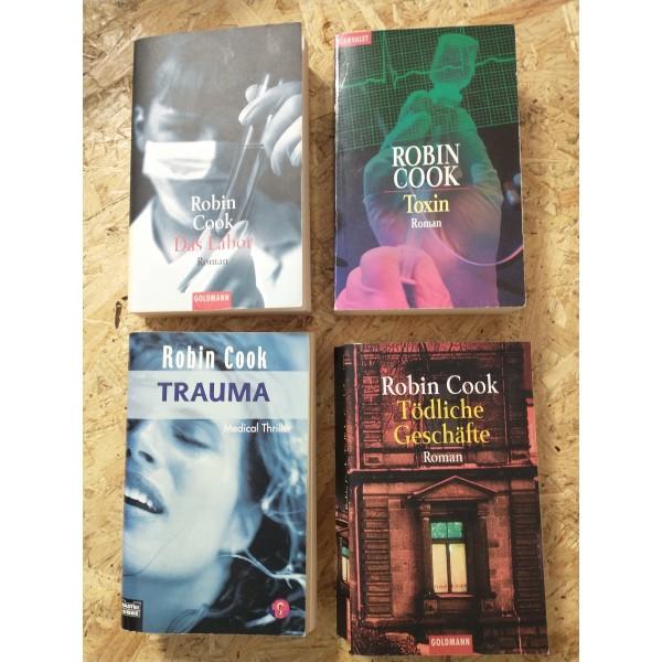 Robin Cook - 4 Romane - Trauma + Labor + Toxin + Tödliche Geschäfte