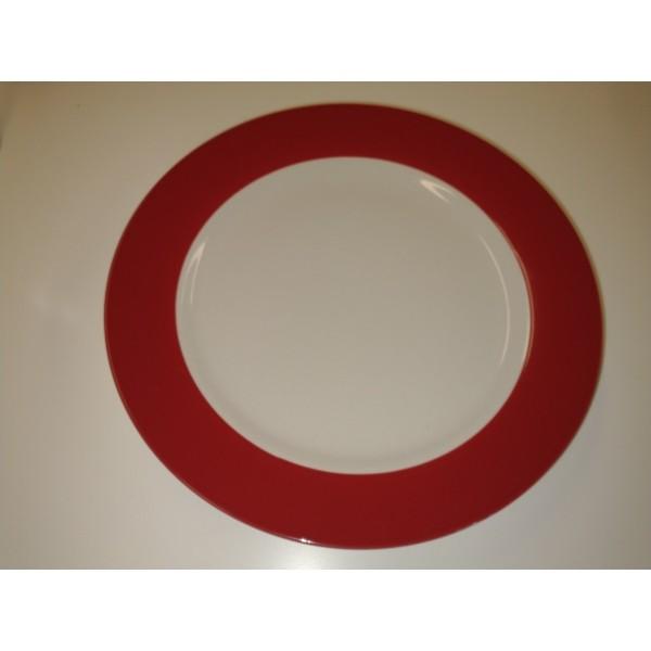 Teller * rot * groß flach * FLIRT * Ritzenhoff & Breker