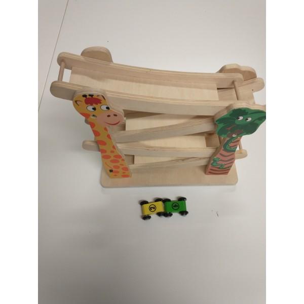 Holzspielzeug - Rennbahn und Autos aus Holz