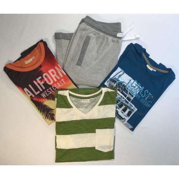 4er Freizeit-Set * Shirts & Shorts * Gr 158-164