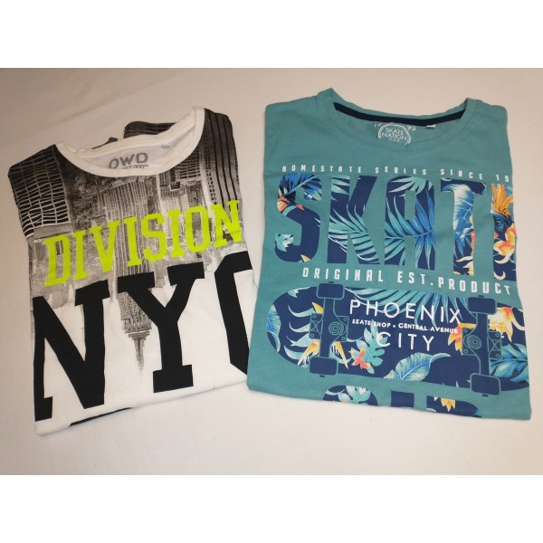 2er Set * T-Shirts * Gr 182 * DWD & State Nation