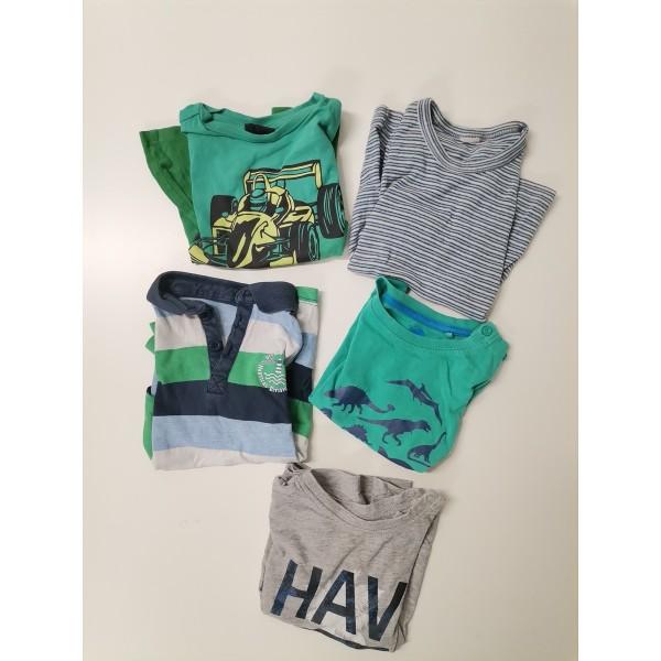5 T-Shirts für coole Jungs in Größe 86 - 92