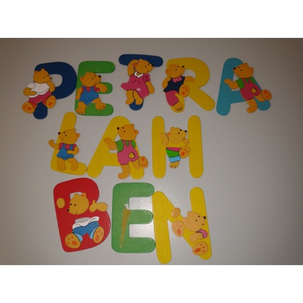 Holz-Buchstaben * Namen * Tür Kinder Teddy