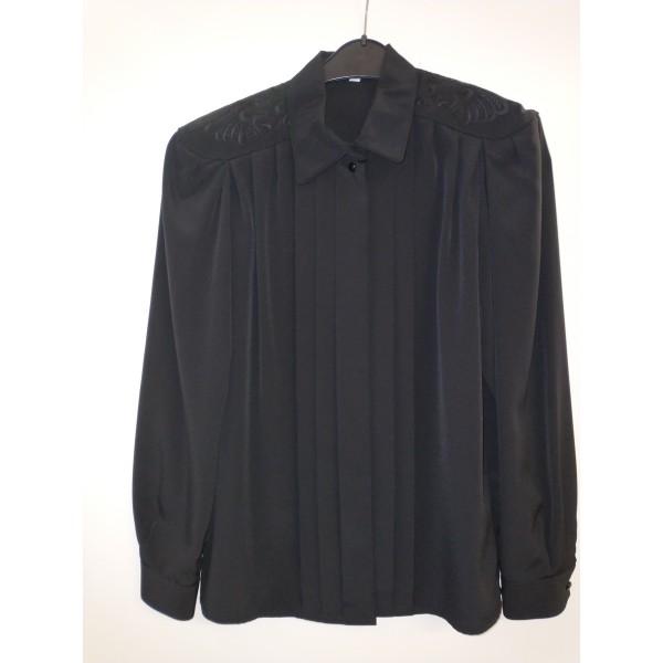 edle Bluse mit Stickerei * schwarz * Gr. 40