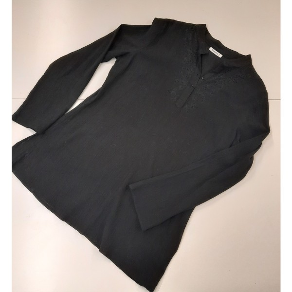 Tunika * Knitter-Bluse * Stickerei * Gr. M-L * Yessica