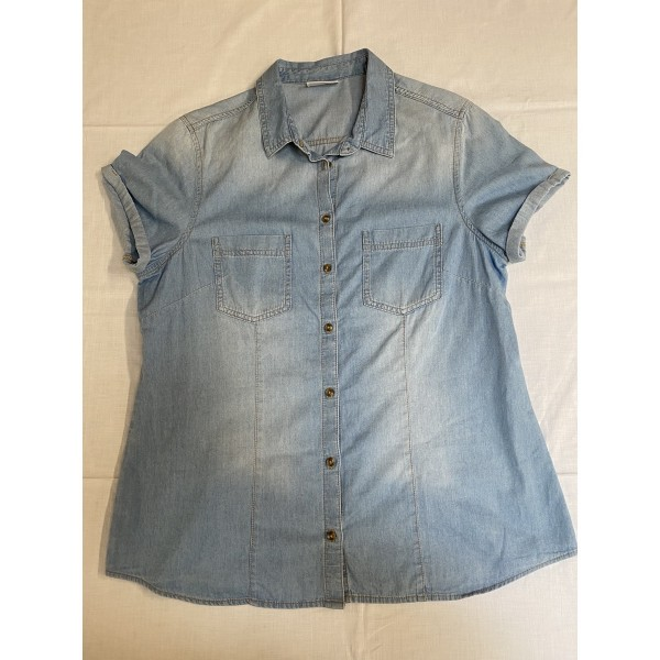 Jeans-Bluse * Kurzarm * Yessica * Gr 42