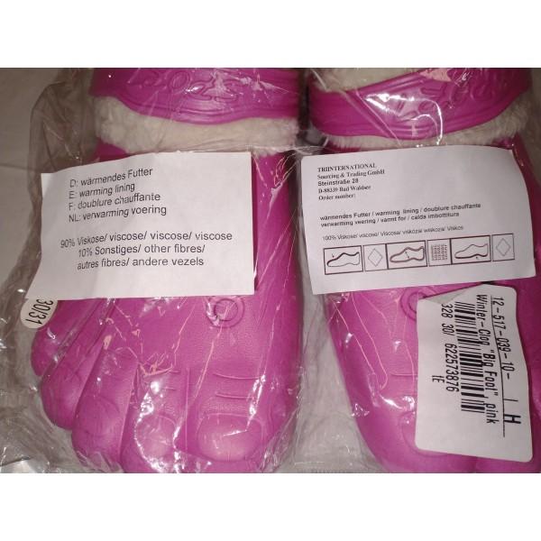 Big Foot Clogs * pink * Mädchen * Gr. 30-31
