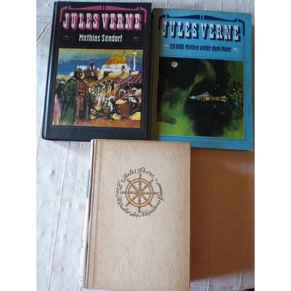 3 Bücher von Jules Verne (20000Meilen etc)