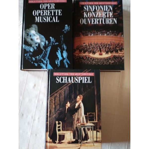 3 Bücher: Bibliothek der Meisterwerke (Sinfionie, Theater...)