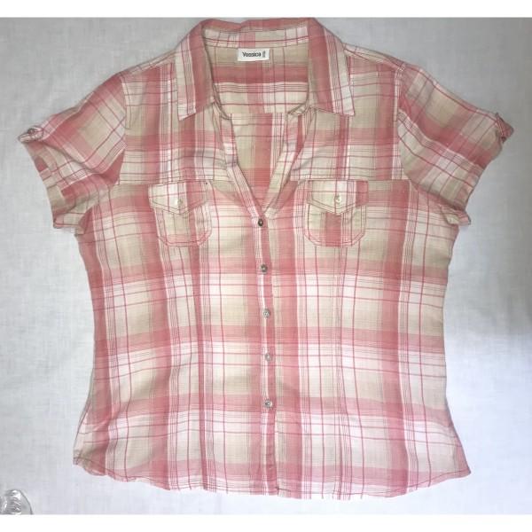 Kurzarm - Bluse * Yessica * Gr 48