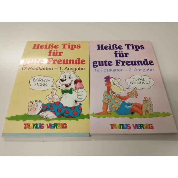 2er Set * Spaß-Postkarten * Heiße Tips für gute Freunde