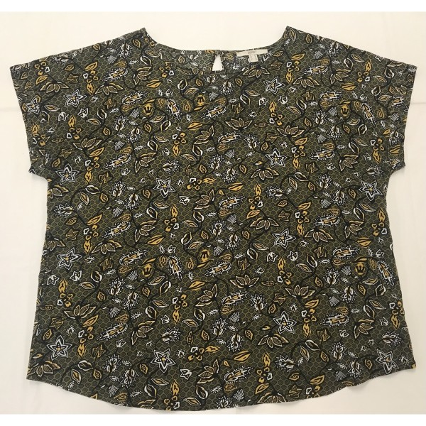 ESPRIT * Bluse * Gr 42 * Blumen-Muster