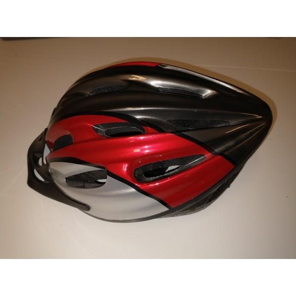 Helm * Fahrradhelm * Schutzhelm * rot-schwarz * Gr L-XL